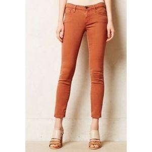Anthropologie | AG Stevie Ankle Burnt Orange Jeans